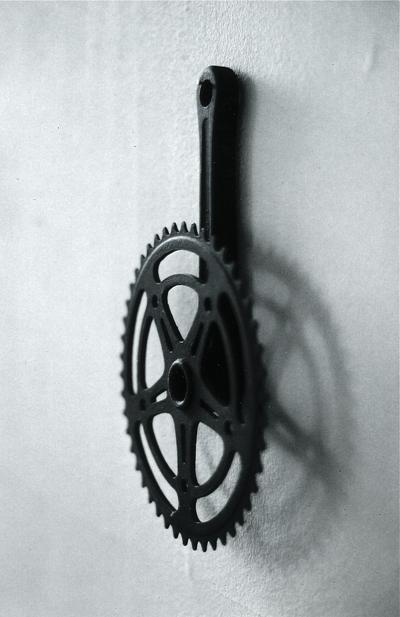 eisen und acryl, 30/ 20/ 8 cm, 1997