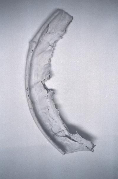 metall, jute und gips, 55/ 20/ 12 cm, 1996