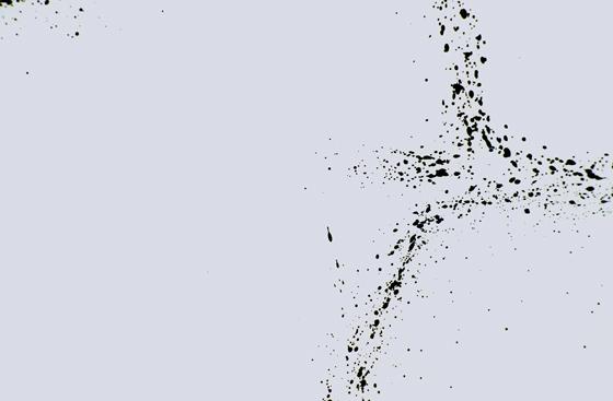 (detail), tusche auf transparentpapier und holz, 196/ 92/ 5 cm, 2002