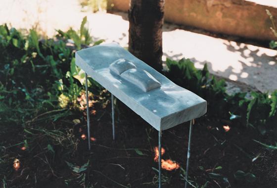 marmor und alu, 65/ 29/ 50 cm