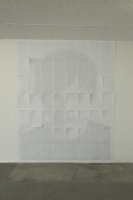 DIN A3-Matrix, 2012, 240 x 300 cm, Drucke, Reißnägel