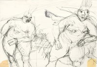 Skizze zu Kugelschreiberzeichnung 2  -