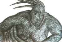 Kugelschreiberzeichnung 2 / Detail -