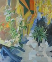 Zersplittert im Kristall des Raums, 2013, Oil/Canvas, 120x100cm -