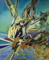 Comicbaum im Winterlaub, Oil/Canvas, 180x150cm -