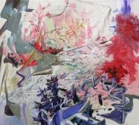 Feld Wald Wiese, Oil/Canvas, 80x90cm -