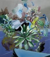 Raumgleiter, Oil/Canvas, 80x70cm -