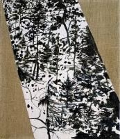 Waldstreifen, Oil/Canvas, 35x30cm -