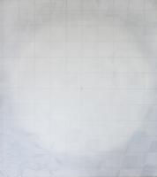 übergangswahrscheinlichkeit, Acryl auf Nessel, Tüll, 95 x 100 cm, 2013 -