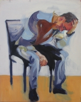 Figure, seated with hand in head 2015